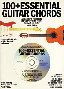 100+ Essential Guitar Chords (Book/CD). Partitions, CD pour Guitare