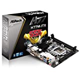 AS Rock LGA1155 Intel H77 SATA3 USB3.0 A V GbE Mini ITX Motherboard  H77M-ITX
