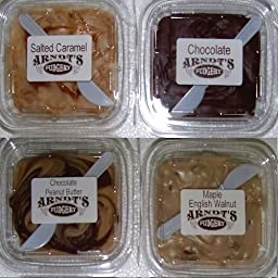 Four 7 Oz Tubs Of Fudge - Four Great Flavors