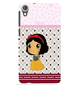 PRINTSWAG CARTOON GIRL Designer Back Cover Case for HTC DESIRE 826