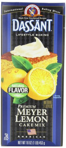 Dassant Meyer Lemon Cake Mix, 16 Ounce Boxes (Pack of 6)