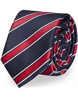 Cravate bleu rouge Fabio Farini