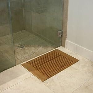 westminster teak wood bath mat home kitchen. Black Bedroom Furniture Sets. Home Design Ideas
