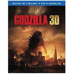Godzilla [Blu-ray 3D+ Blu-ray + DVD +UltraViolet  Combo Pack]