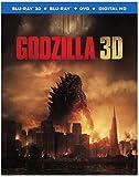 Godzilla (Blu-ray 3D+ Blu-ray + DVD +UltraViolet  Combo Pack)