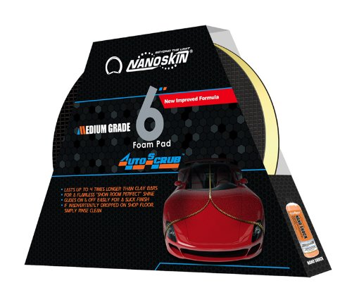"Nanoskin (As-003) Autoscrub 6"" Medium Grade Foam Pad For Da Polisher"