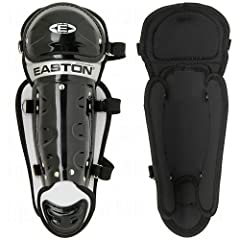 Buy Easton Junior Youth Black Magic Leg Guards, Black Silver by Easton