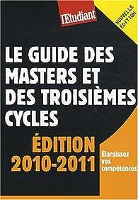 Le guide des masters et des troisi�mes cycles par Ya�l Didi