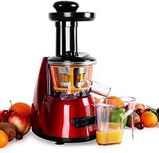 Klarstein Bella Rossa Slow Juicer Licuadora vertical (70 rpm/min 600ml accesorios; pilon, receptaculos, cepillo y filtro) rojo