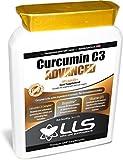 LLS La curcumina C3 avanzada | La curcumina cúrcuma alta calidad con 95% de curcuminoides | Contiene curcumina C3 Complex y BioPerine® para Aumento de la absorción | Pueden reducir el dolor y la inflamación de la artritis | Potente antioxidante | Mez