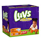 Luvs With Ultra Leakguards Size 3 Diapers 204 Count ~ Luvs