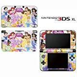 Princess Friends Sparkle Belle Rapunzel Tiana Ariel Decorative Video Game Decal Cover Skin Protector for Nintendo 3DS XL