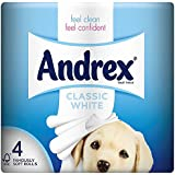 Andrex Puppies on a Roll Toilet Tissue 210 Sheets - Classic white, Pack of 6