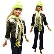 Evening Wedding Party Clothes Casual Dress Outfit Set For Barbie Doll Gift - B00RWLLDOM