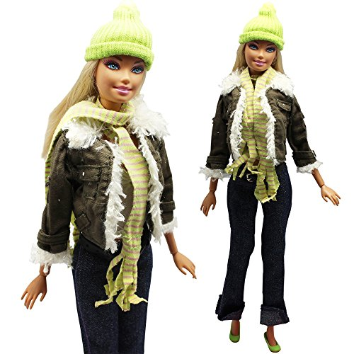 Evening Wedding Party Clothes Casual Dress Outfit Set for Barbie Doll Gift - 1