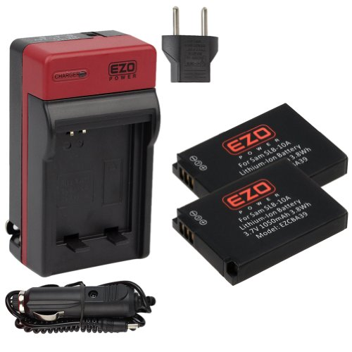 Ezopower Slb-10A Batteries And Ac Charger Replacement Kit For Samsung Ex2F, Wb150F, Wb250F, Wb350F, Wb750, Wb800F, Wb850F, Wb1100F, Wb2100, L100, L110, L200, L210, Sl102, Sl202, Sl620, Sl420 Digital Camera