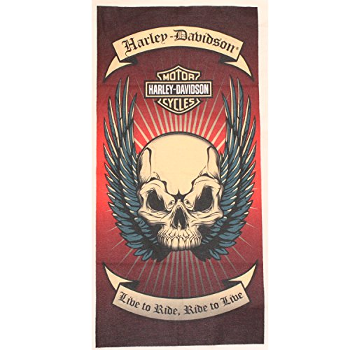 black-red-cream-harley-davidson-skull-multifunctional-tube-snood-scarf