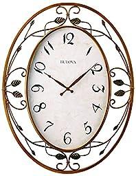 Bulova Laurel Large Deco Wall Clock - C4370