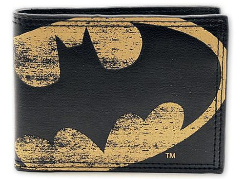 "Batman - Vintage Logo Synthetic Leather Wallet - Billfold (Bat Logo) (Size: 4.3"" x 3.5"") by Merchandiseonline"