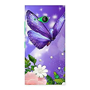 Purple Butterfly Back Case Cover for Lumia 730