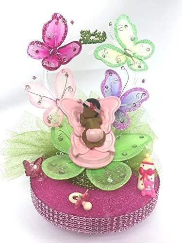 Butterfly Cake Toppers Baby Shower : Girl Butterflies Baby Shower Cake Decorations Baby ...