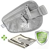 Money Belt For Travel Best Non-Itch Travel Wallet For Men and Women With Gift Money Clip