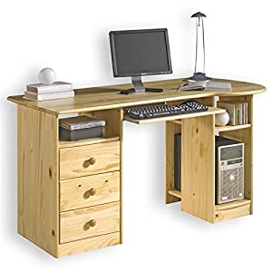 bureau en pin vernis naturel bob cuisine maison. Black Bedroom Furniture Sets. Home Design Ideas
