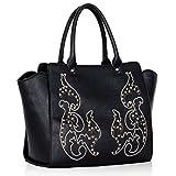Womens Handbags Ladies Shoulder Bags Faux Leather Grab Tote New Designer Fashion