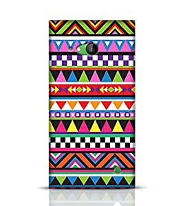 Nokia Lumia 730 Best Covers for Tribal Colorful Geometric Pattern Back Cover for Lumia 730 Multicolor
