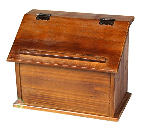 Vintiquewise(TM) Old Style Wooden Podium Recipe Box 0