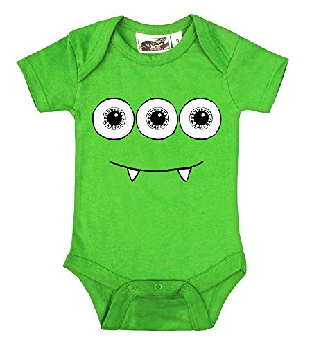 3 Eyed Monster Lime Green One Piece (12-18 Months) front-1038478