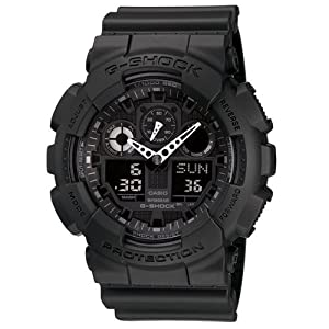 G Shock Combination Miltary Watch-Matte Black model number is GA-100-1A1
