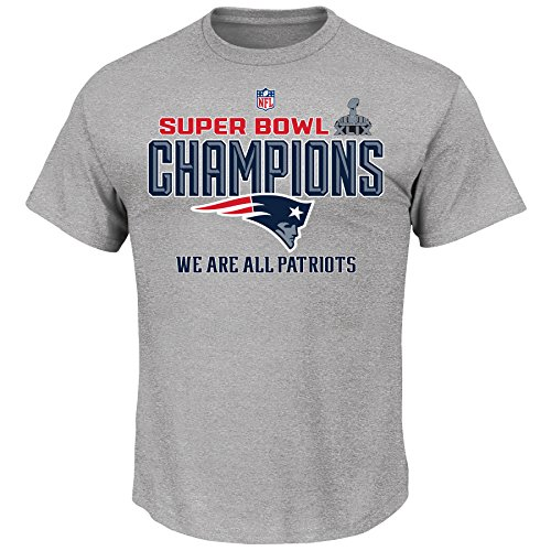 New England Patriots NFL Super Bowl XLIX Champions Youth Trophy Collection T-Shirt (Youth Large 14/16) (Nfl Super Bowl Trophy compare prices)