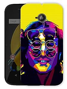 "John Lennon - The Beatles - Trippy Printed Designer Mobile Back Cover For ""Motorola Moto E"" By Humor Gang (3D, Matte Finish, Premium Quality, Protective Snap On Slim Hard Phone Case, Multi Color)"