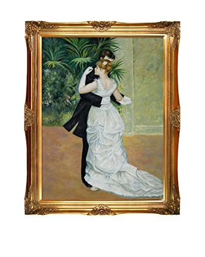 Pierre Auguste Renoir's Dance In The City Framed Hand Painted Oil On Canvas