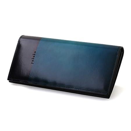 [YUHAKU] ユハク 財布 メンズ ユニセックス / ylo110 <Luce e Ombra> ロングウォレット 束入れ 長財布 ブルー