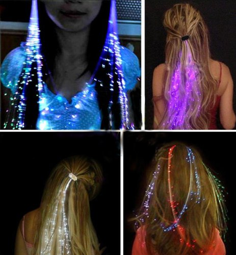 set-of-6-led-hair-extentions-clip-pony-tail-led-fiber-optic-light-up-rainbow-hair-barrette-party