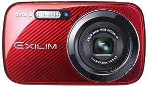 Casio Exilim EX-N50RD Digitalkamera (16,1 Megapixel, 6,9 cm (2,7 Zoll) Display, 6-fach opt. Zoom, Make-up Modus, Gesichtserkennung-Funktion) rot