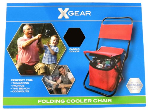 Xgear Folding Cooler Chair - 2-In-1 (Black)