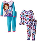 Sofia the First Little Girls'Royal Hearts 4 Piece Pajama Set