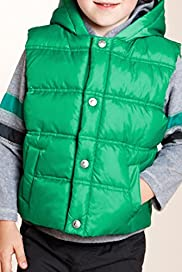 Zip Through Padded Hooded Gilet & Fleece Top Set [T88-9018Y-Z]