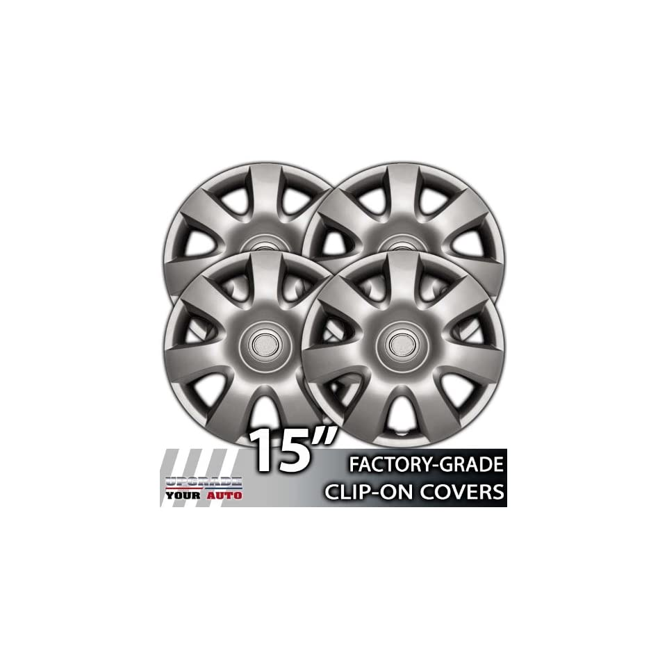 2002 2004 Toyota Camry 15 Inch Silver Metallic Clip On Hubcap Covers
