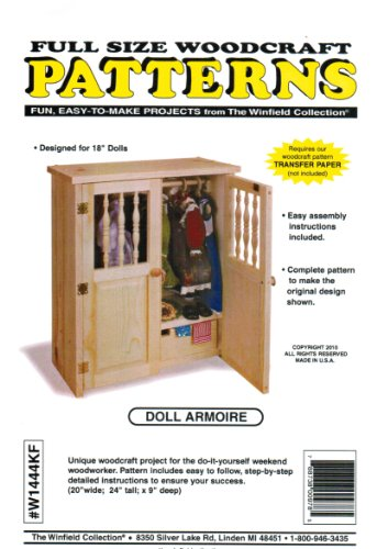 Doll Armoire Toy Furniture Woodworking Plans