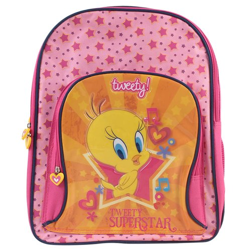 "Tweety Tweety School Bag - 16"" (Yellow)"