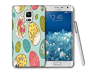 Snoogg Multicolor Eggs Printed Protective Phone Back Case Cover For Samsung Galaxy NOTE EDGE