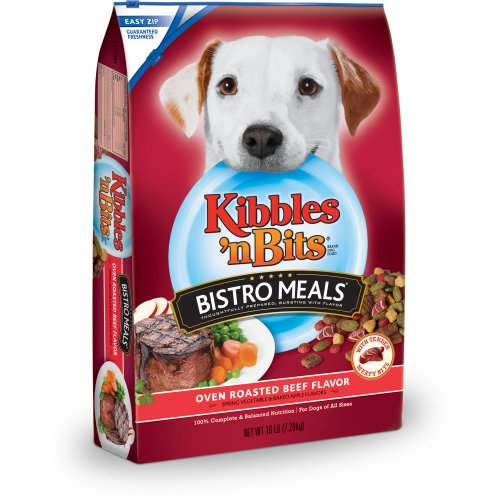 Kibbles 'N Bits Bistro Meals Oven Roasted Beef Flavor With Spring Vegetable & Baked Apple Flavors Dry Dog Food, 16-Pound front-41588