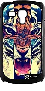 Coque pour Samsung Galaxy S3 mini - Tiger Roar Cross Hipster - ref 562