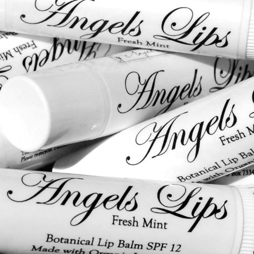 Angels Lips - Botanical Lip Balm Eco-Friendly SPF 12 - 2-Pack (Try Both - 1 Mint and 1 Tangerine)