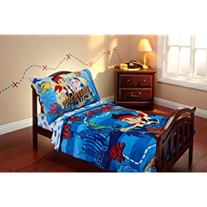 Disney Jake And The Neverland Pirates 4 Piece Toddler Bed Set Baby