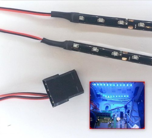 top-led-bright-blue-led-modding-case-light-kit-12-led-strip-x2-20cm-strips-molex-40cm-tails